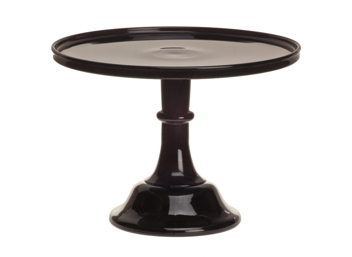 Black Raspberry 12'' Glass Cake Stand - By Mosser Glass