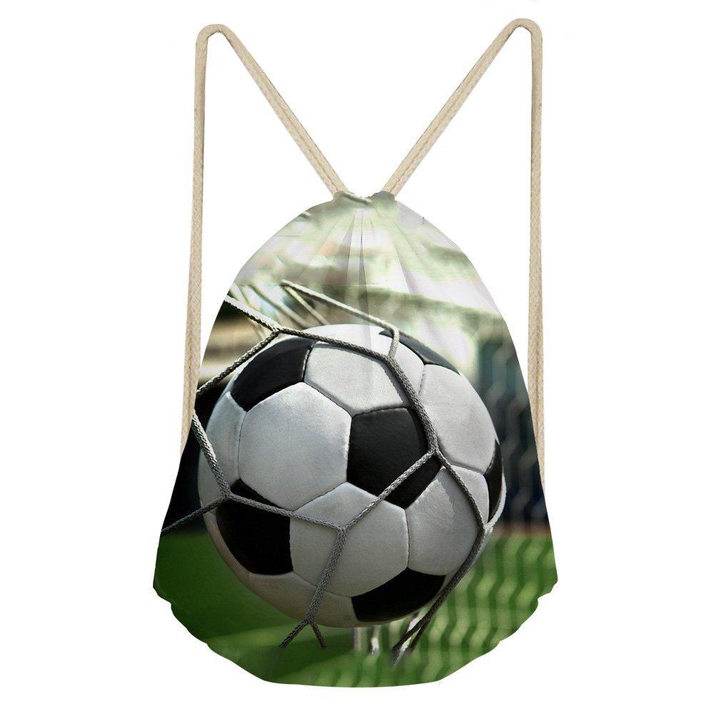Yzanスポーツドローストリングバッグ袋パックバックパックギフトジムバッグDay PackメンズレディースボーイズTeen Kids B07C5MNC8B Soccer -13 Soccer 13