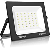 foco led exterior,Rinoye 10W LED Foco Exterior de alto brillo,1000LM Impermeable IP66 Proyector Foco LED, 3000K Blanco…