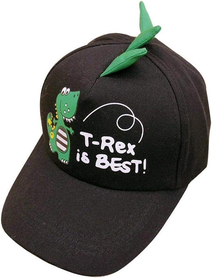 AMOYER Cartoon Enfants Dinosaur Casquette De Baseball Coupe D/écontract/ée Chapeaux De Soleil pour Gar/çons Filles