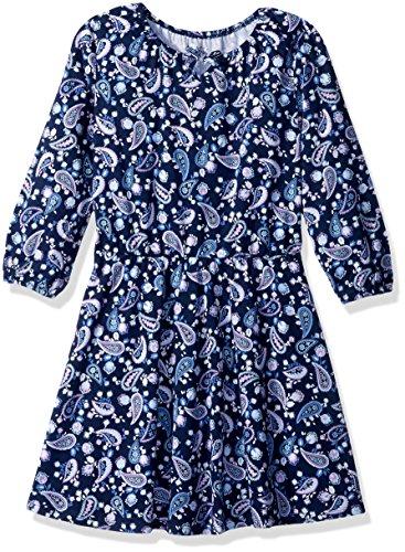 The Children's Place Big Girls' Long Sleeve Dressy Dresses, Tidal 85313, L (10/12)