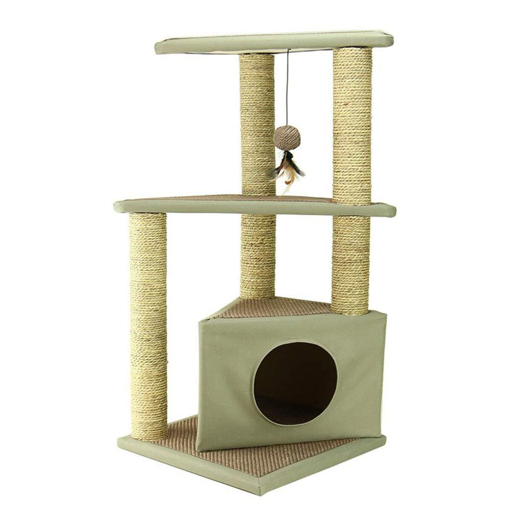 Brown 404084cm Brown 404084cm Cat Climbing cat Toy cat Rack cat Litter Four Seasons Universal cat House cat Tree cat House