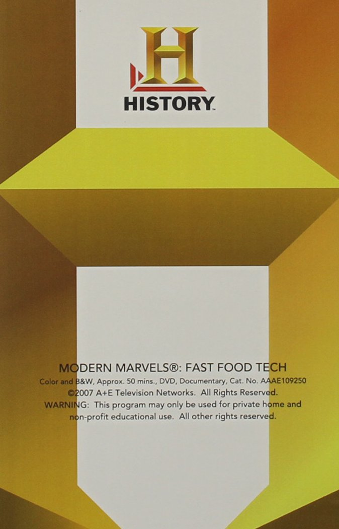 Modern Marvels: Fast Food Tech