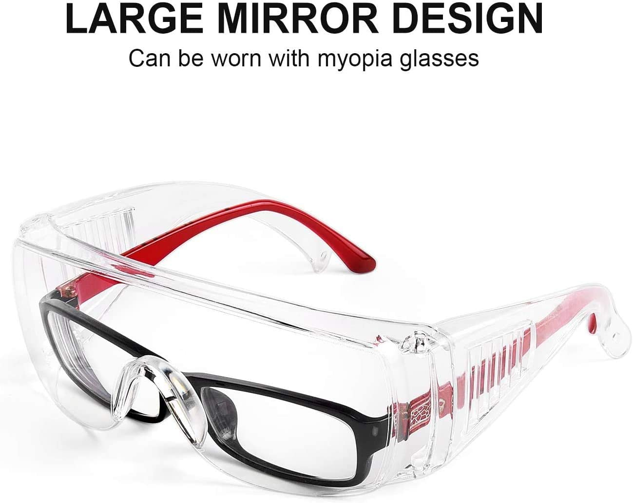Sports Carpentry Shooting Industrial Safety Glasses Impact and Scratch Resistant Crystal Clear Lens-Protective Eyewear for Lab and More 1