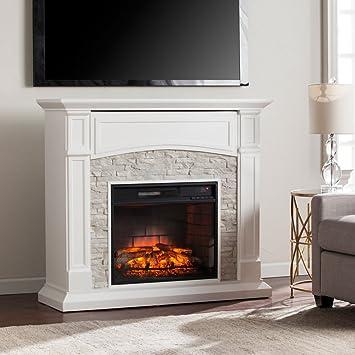 Amazon Com Southern Enterprises Seneca Infrared Electric Fireplace