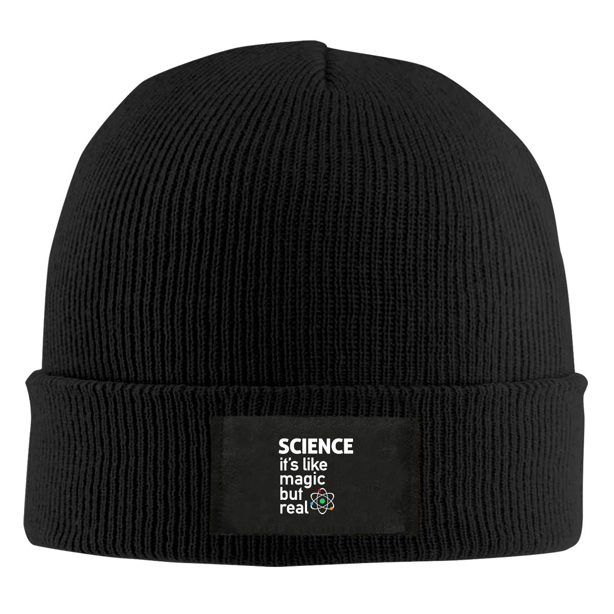 LRHUI Science Winter Knitted Hat Warm Wool Skull Beanie Cap