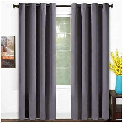 Gentil TEKAMON 99% Blackout Curtains Thermal Insulated Grommet 2 Panels Set  Draperies, Room Darkening Panels