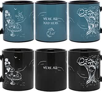 InGwest. Alisa Mugs. Cheshire Cat Mug. Changing Color Heat Sensitive Mug. We All Mad Here! …