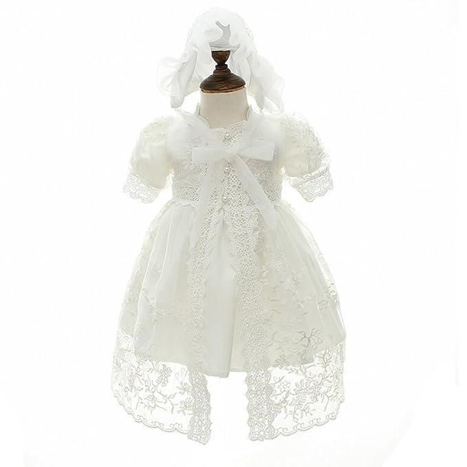 Amazon.com: Baby Girl Dress Christening Gowns Flower Girl Dress long ...