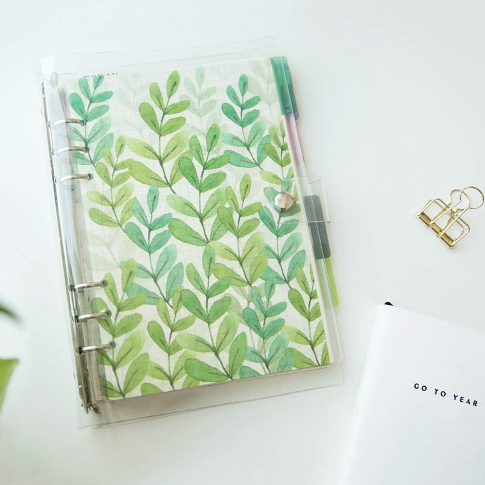 Notizbuch A6 Full Kit 6 Index-Trennbl/ätter Raster//liniert//blanko Kreatives Notizbuch zum Selberbef/üllen dickes Papier Tagebuch lose Bl/ätter gepunktet