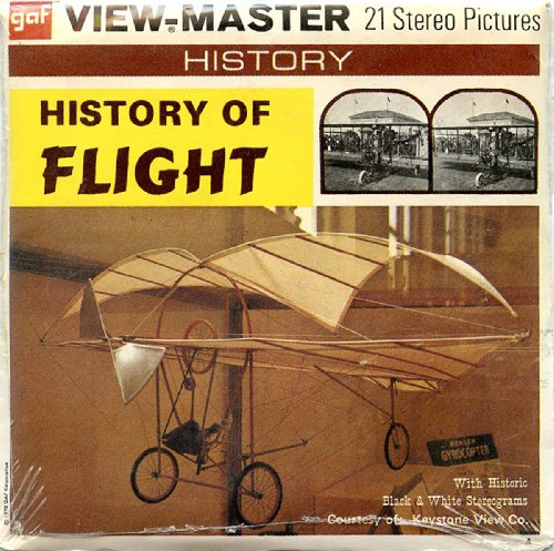 Classic ViewMaster - History Series - History of Flight - ViewMaster Reels 3D - Unsold store stock - never opened