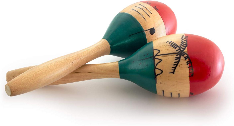 Tiger Music MAR56-NT - Maracas de madera, color natural