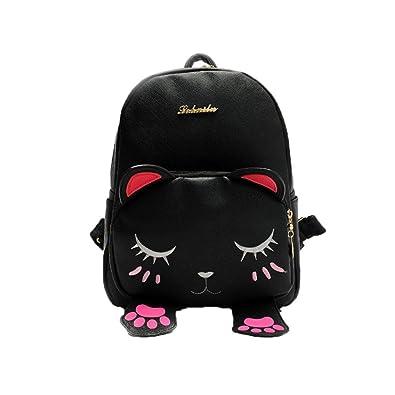c3cc1c8ef757 Masrin Cute Rucksack Cat Bag Students Girls Back Pack School Backpacks  Funny Shoulder Travel Bag (
