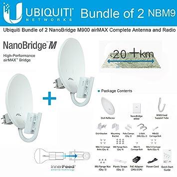 Amazon Ubiquiti NanoBridge M9 2 PACK 900MHz NBM9 AirMax NBM900