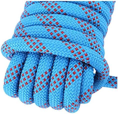 登山用ロープブラック10.5MM、ホームファイアー緊急脱出用ロープ、登山用/ハイキング用/アドベンチャー/レスキュー用、2カラビナ付き、サイズ:10-80M (Size : 10.5mm/50m)