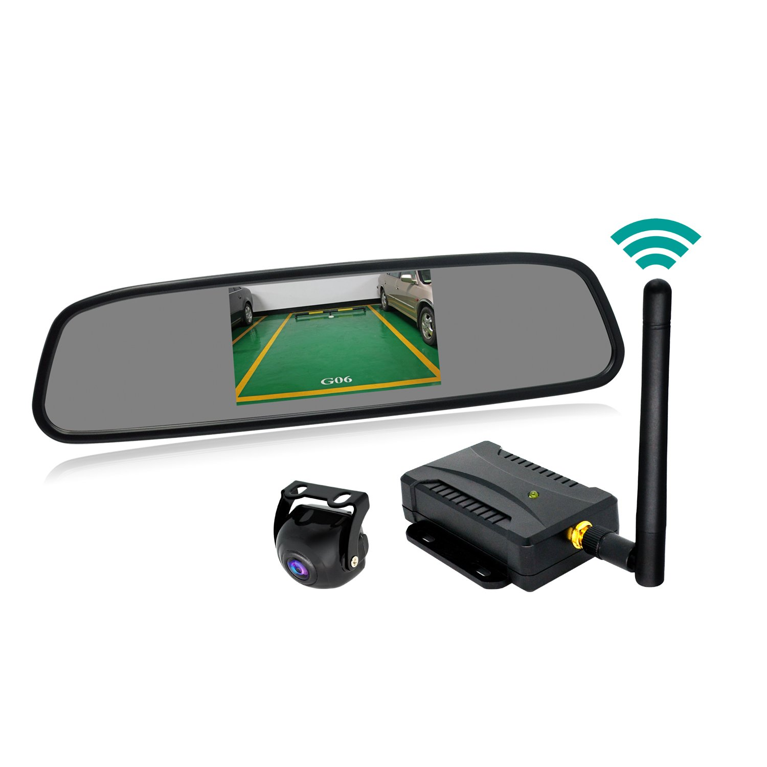Wireless Backup Camera System 43 Inch Rear View Mirror Plcm7200 Wiring Diagram Monitor And Waterproof 170 Wide Angel High Definition Reverse Back Up For Rv