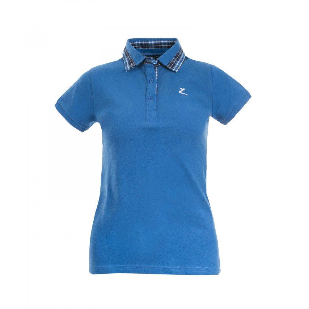Horze Britaレディース半袖ポロシャツシャツグリーンブルー4