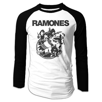 6e5600ec916d67 Ramones Punk Rock Band Men Crew Neck Raglan Shirts Black. Roll over image to  zoom in