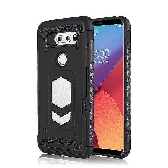 competitive price 4939e e0ef7 FANSONG LG V30 Wallet Case Card Holder Design with Magnetic Car Mount  Protective Grip Cover for LG V30 - Black