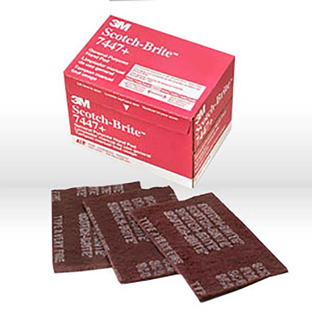 B001S8HF9W Scotch-Brite(TM) 7447B Abrasive Hand Pad, General Purpose, Maroon Color, Aluminum Oxide, Grit Very Fine (Case of 60) 614z2B25mF3L._SL1000_