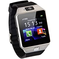 ARG HEALTH CARE DZ09 Sterling Bluetooth SmartWatch with SIM/TF Card Slot; Camera and Alarm Compatible with All Android Smartphones