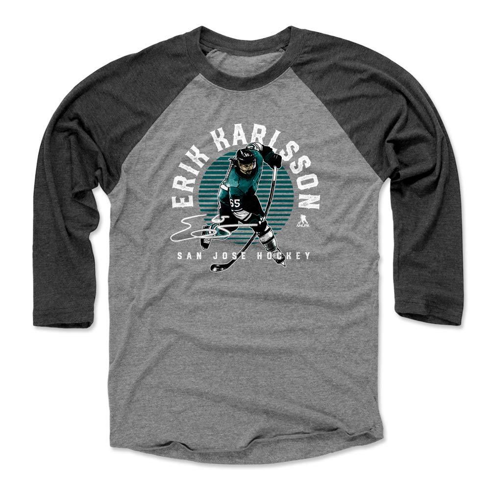 500 LEVEL Erik Karlsson Shirt Erik Karlsson Emblem San Jose Hockey Raglan Shirt