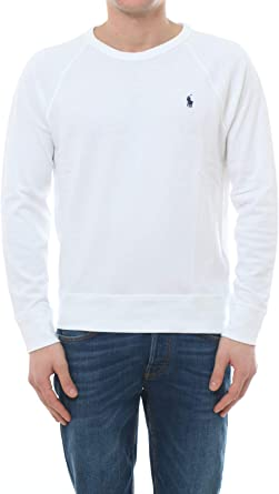 Sudadera Crew Fina Polo RALPH LAUREN Blanco: Amazon.es ...