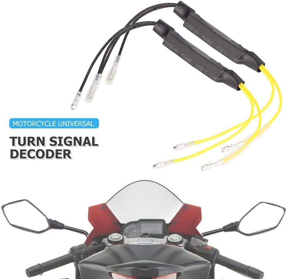 1 par de Moto 21W Resistencia de indicador LED Decodificador de luz de se/ñal para Uso de Motocicleta Yctze Decodificador de luz de se/ñal de Motocicleta