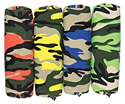 Raymond Geddes Neon Canvas Camo Pencil Pouch, 12 Pack (69958)