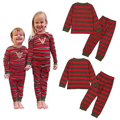 f879837aa467 Amazon.com  Xinvision Boys Girls Christmas Pajamas - Kids Toddler ...