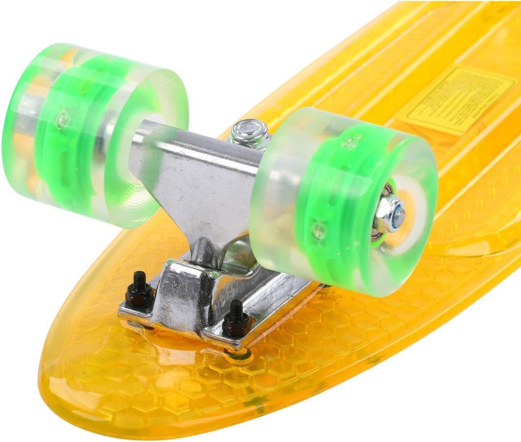 Maronad transparent Retro Skateboard LED klarer leuchtrollen ABEC 7