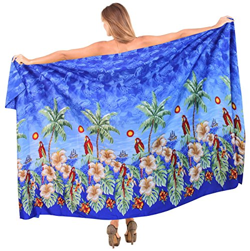 la-leela-likre-caribbean-plus-size-hawaiian-sarong-cover-up-88x39inch-royal-blue-valentines-day-gift