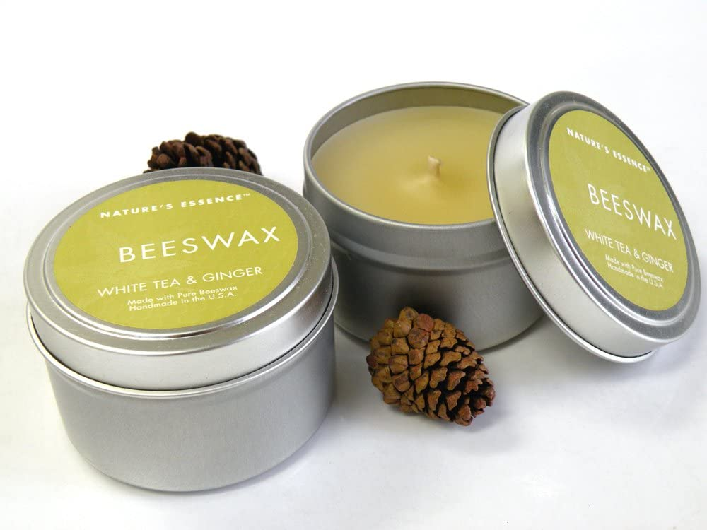 Main Street Christmas Beeswax Candle Tin Container Candle Travel Tin Natural Candle Scented 4 oz
