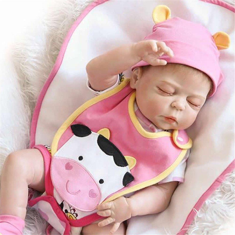 Amazon.es: Suave verdad real realista Reborn bebé muñeca 23 pulgadas 57 Full silicona vinilo recién nacidos Brinquedo do bebe niños cumpleaños Navidad ...