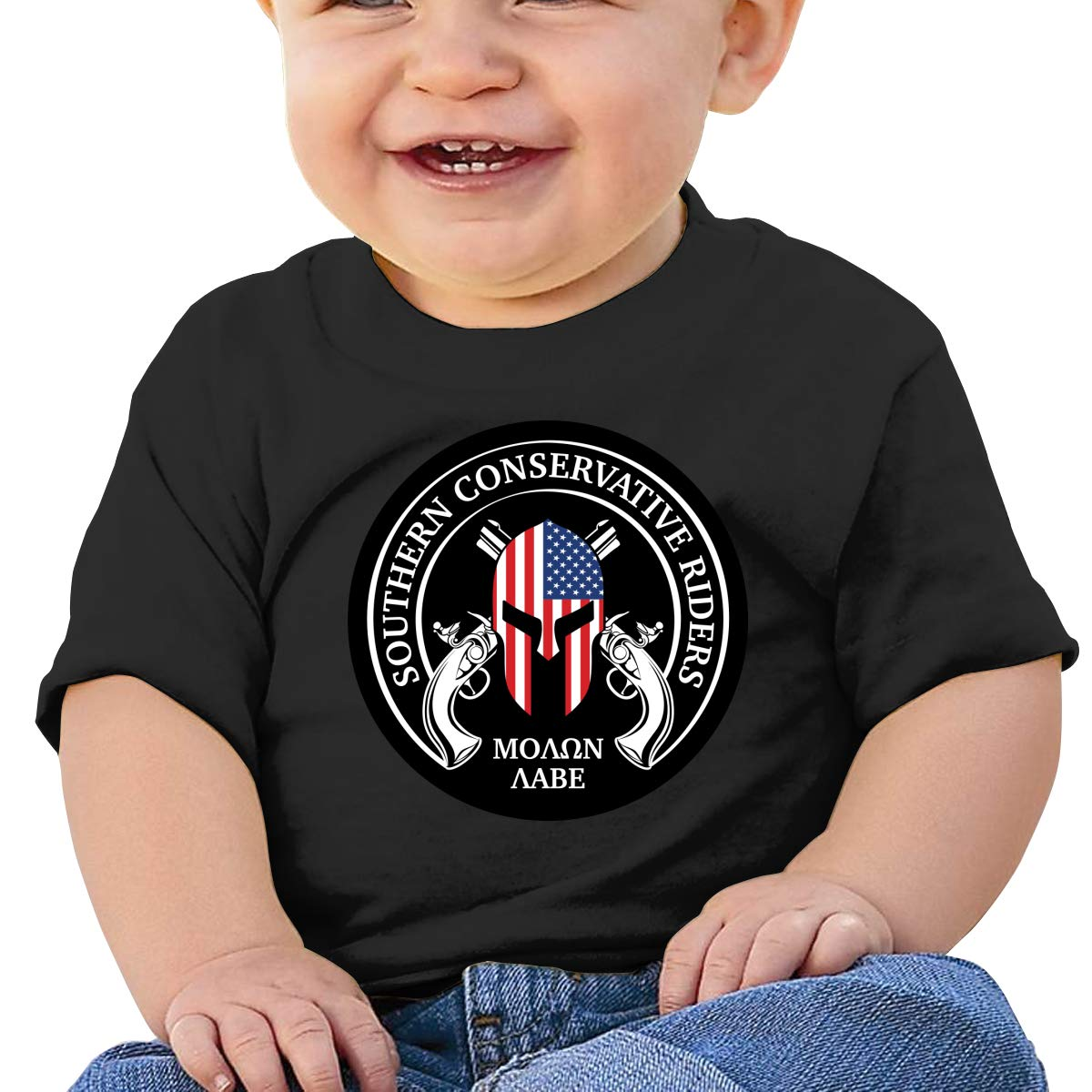 Come and Take Them Molon Labe Baby T-Shirt Kids Cotton T Shirts Comfort Tops for 6M-2T Baby
