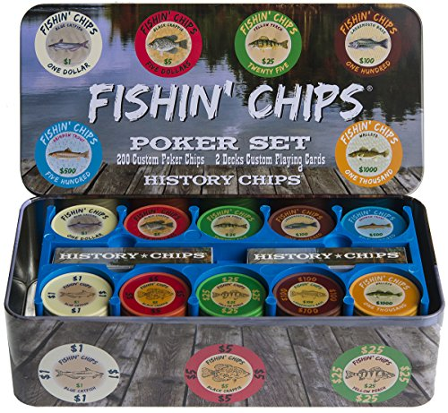 FISHIN' CHIPS - FRESHWATER - Premium Quality Poker Chips and Playing Card Set