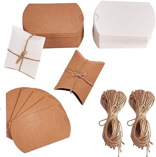 Cajas de Dulces 100 piezas Caja de regalo Candy de papel Kraft ...