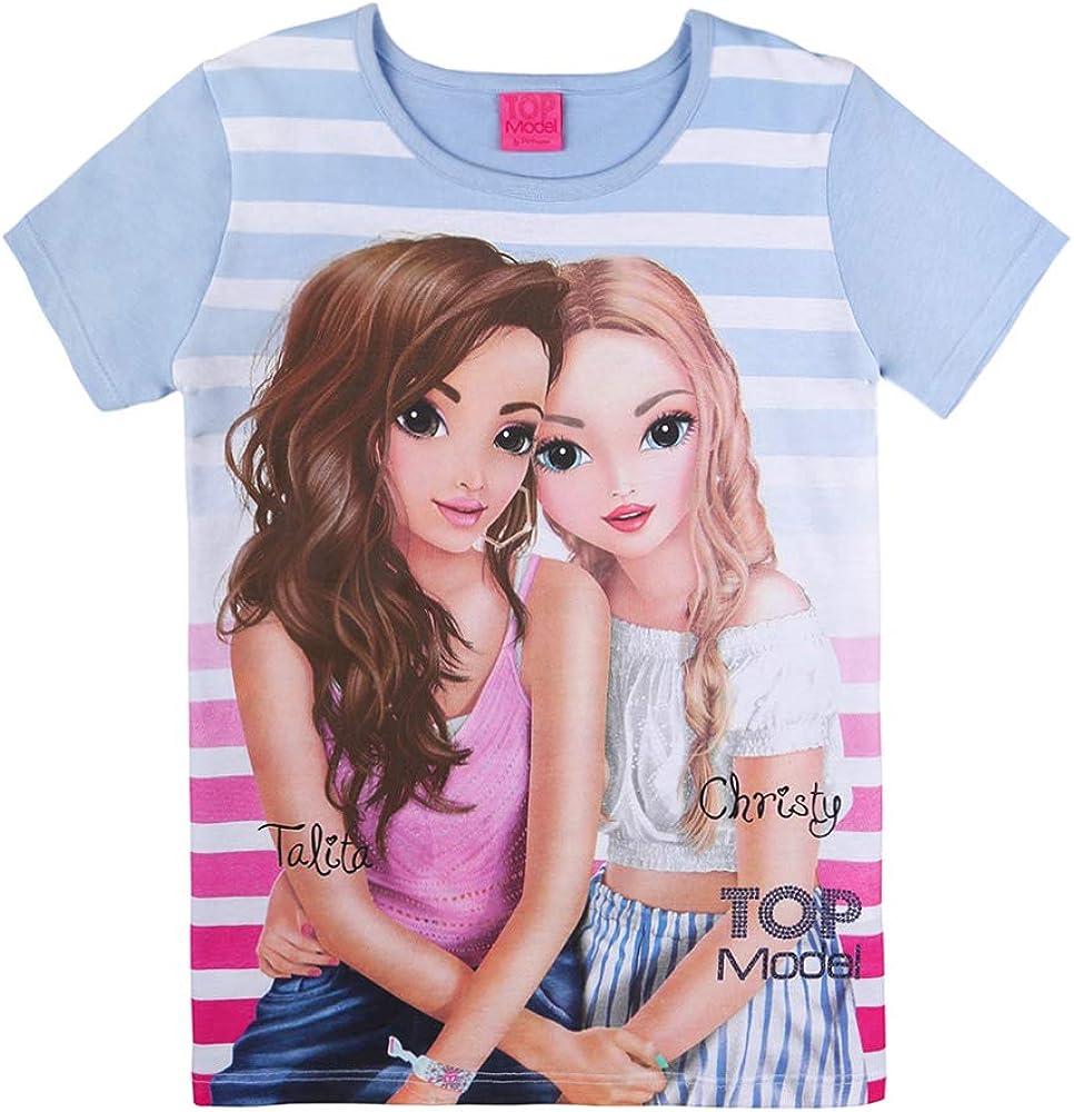 blau Top Model M/ädchen T-Shirt