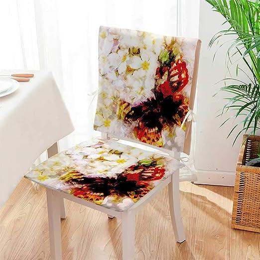 Mikihome - Juego de 2 Cojines para Silla, diseño de Flores ...