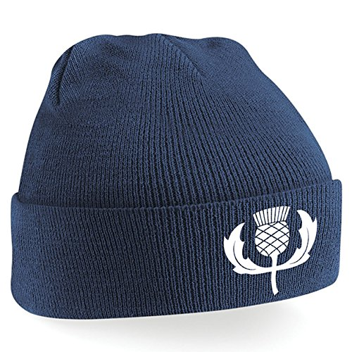 f465ba2744e Unisex Adult Classic Embroidered Scotland Thistle Crest Rugby Winter Beanie  Hat  Amazon.co.uk  Clothing