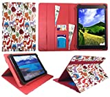 Sweet Tech ANOC 10.1 Inch Android Tablet Multi Animal Universal Wallet Case Cover Folio (10-11 inch)