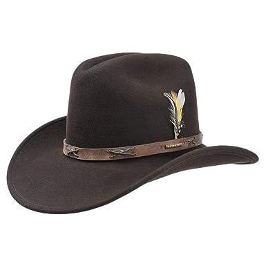ea1561952be Stetson Victorville Cowboyhut für Herren Rodeohut Cowboyhüte mit Lederband  Sommer Winter (L (58-