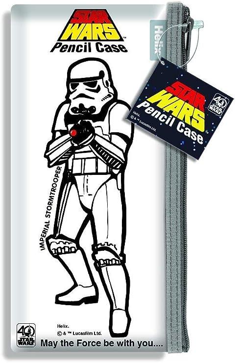 Helix STAR WARS Retro estuche para lápices, diseño de 40 aniversario Ed. – Imperial Stormtrooper estuche: Amazon.es: Oficina y papelería