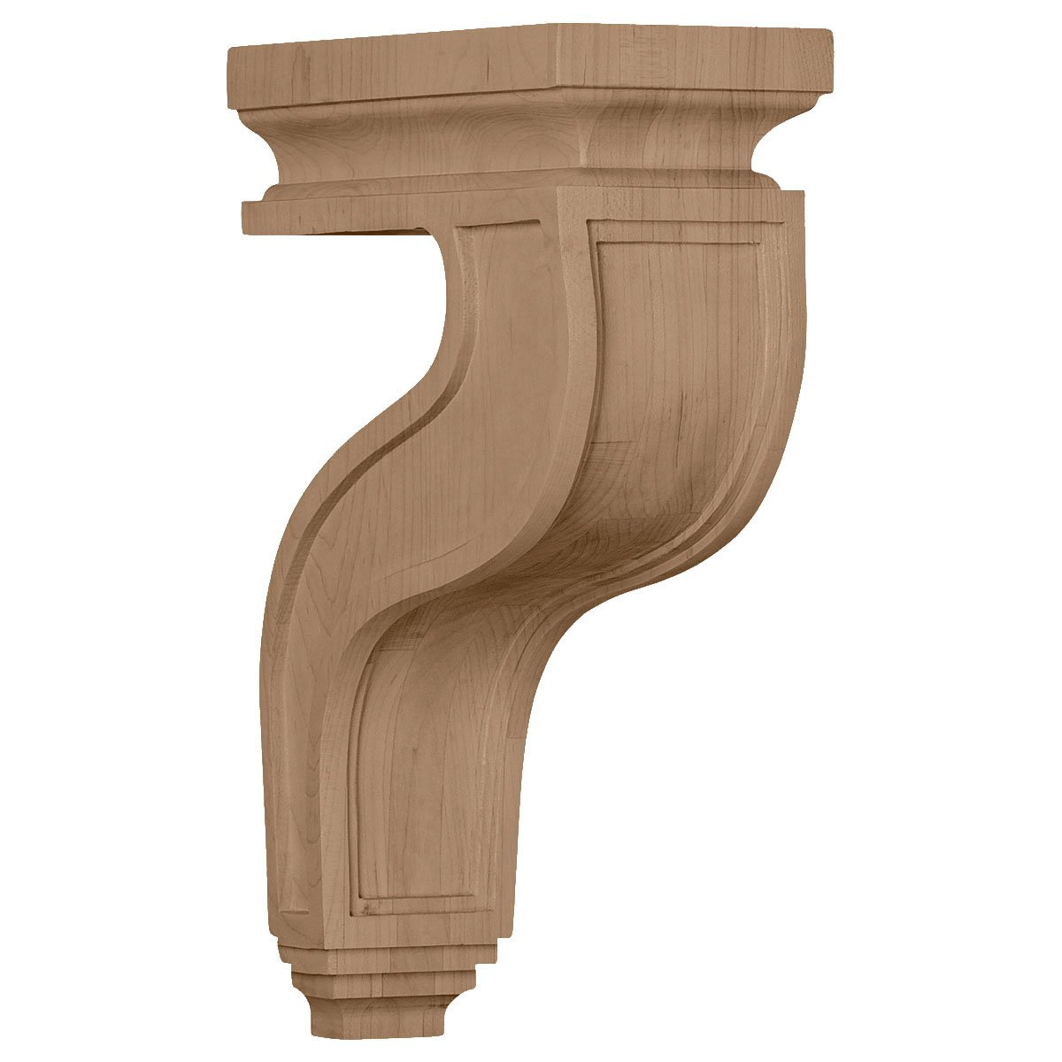 Ekena Millwork COR03X07X11HAMA 3 1//2-Inch W x 7 1//4-Inch D x 11-Inch H Hollow Back Corbel Maple