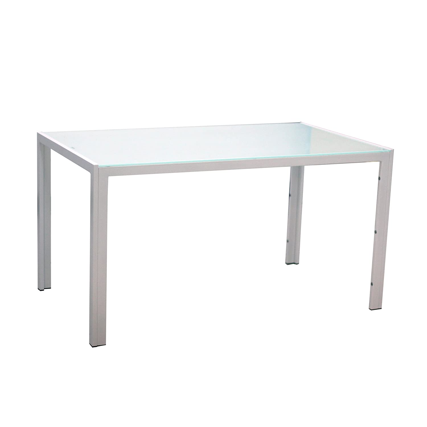 rectangle kitchen table set. EBS® White Glass Dining Table And 4 Chairs Room Furniture Set - Modern Design Faux Leather: Amazon.co.uk: Kitchen \u0026 Home Rectangle