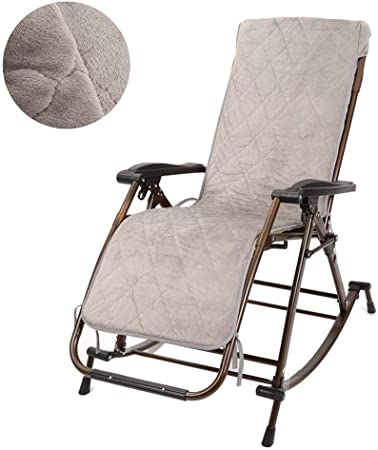 Sillón reclinable Mecedora de jardín tumbona junto a la silla de oscilación ajustable con reposapiés y respaldo reclinable plegable reclinable for Patio Mat extraíble (Color: GRIS) (Color : Gray) : Amazon.es: Hogar