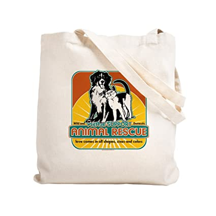 486f8456aaa Amazon.com: CafePress - Animal Rescue Dog And Cat - Natural Canvas ...