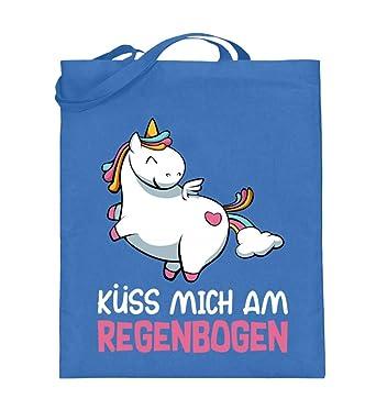 Kuss Mich Am Regenbogen Liebes Susses Einhorn Design Lustige Spruche