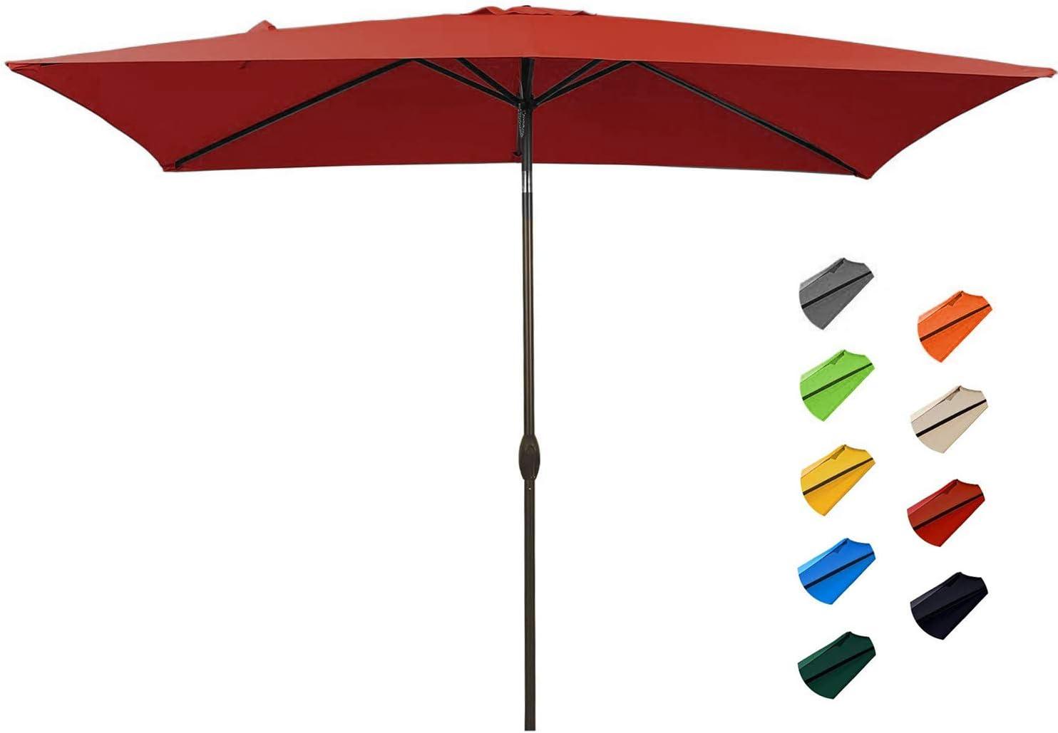 KITADIN Rectangular Patio Umbrella