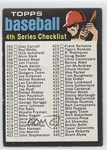 Checklist Topps Baseball (4th Series Checklist (Baseball Card) 1971 Topps - [Base] #369)